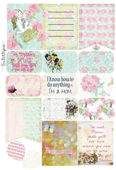 Mothers Day Love themed planner stickers for ECLP IWP