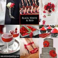 Black, White and Red Wedding | #exclusivelyweddings