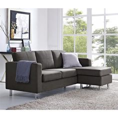 "This <a href=""http://amzn.to/1NpC4lJ"" target=""_blank"">sectional</a> sofa with a chaise that can be configured for the left or right side."
