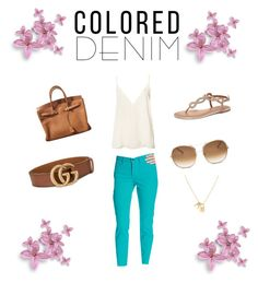 """""""Spring Ready"""" by gmarie-4 ❤ liked on Polyvore featuring NYDJ, Anine Bing, Dorothy Perkins, Hermès, Chloé and Gucci"""