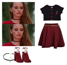 """Cheryl Blossom - Riverdale"" by shadyannon ❤ liked on Polyvore featuring Valfré, Luiny and Kenneth Cole"