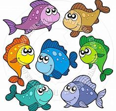 Image result for Printable Fish Clip Art