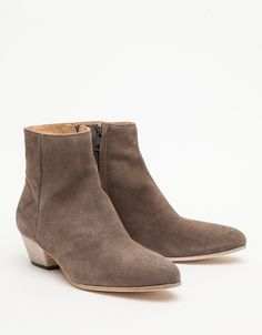 / Zip Ankle Boot in Suede