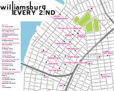 Williamsburg Gallery Map.