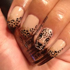 Leopard nails (my friend Thary's awesome nails!)