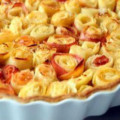Torta de maçãs Bouquet de rosas