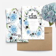 Zaproszenia ślubne Hortensje by Cartolina www.cartolina.com.pl wedding invitations