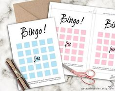 Printable Bingo Game. useful for both bridal shower and baby shower Printable PDF files, Pink & Blue Bingo Game  Before its time to open gifts, fill in the boxes with gifts you think the mom to be / bride to be will receive. When you get 5 in a row, Yell Bingo!  Instant Download ▴ no printed materials will be shipped   ∙∙∙∙∙∙∙∙∙∙∙∙∙∙∙∙∙∙∙∙∙∙∙∙∙∙∙∙∙∙∙∙∙∙∙∙∙∙∙∙∙YOU WILL RECEIVE∙∙∙∙∙∙∙∙∙∙∙∙∙∙∙∙∙∙∙∙∙∙∙∙∙∙∙∙∙∙∙∙∙∙∙∙∙∙∙∙∙∙∙∙∙∙∙∙∙∙  Printable 4 PDF files • 2x Baby Bingo 8,5 x 11 inch PDF; 2...