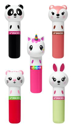 Lippy Pals keep your lips moisturized with fun, tasty flavors from Lip Smacker®. Unique packaging features an adorable animal character on each lip balm— we know you won't be able resist smiling when you apply it! Bundle Contains 5 Lippy Pals: Panda - Make Up Geek, Kawaii Makeup, Cute Makeup, Lip Makeup, Makeup Brushes, Justice Makeup, Baby Lips, Cute School Supplies, Lip Care