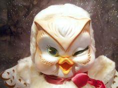 Rare Vtg Rushton Star Creations Rubber Face Hoo-o-ty Owl Plush Stuffed IOB #RushtonStarCreation
