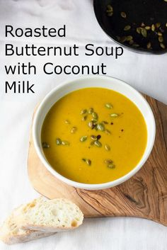 Roasted Butternut Squash Soup recipe for the Slow-Cooker. Healthy and Vegan