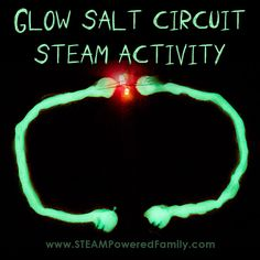 This easy electrical circuit activity for kids is a hit! Create a simple glowing salt circuit that lights an LED. Fantastic STEAM activity for elementary. Mad Scientist Halloween, Halloween Science, Easy Halloween Crafts, Halloween Activities, Halloween 2019, Steam Activities, Science Activities, Science Projects, Activities For Kids