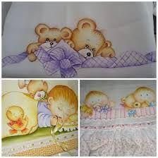 Resultado de imagen de bebés safari, para pintar em tecido