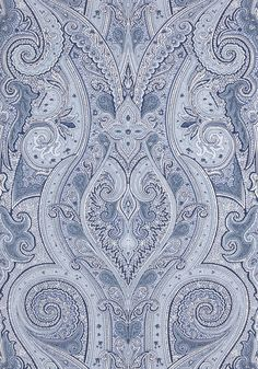 PATANI, Blue, T1034, Collection Menswear Resource from Thibaut #joecornfields #blue #paisley