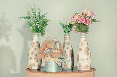 garrafas decoradas - Pesquisa Google