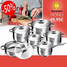 👩🍳👨🍳Αποκτήστε το νέο σετ 12 τεμαχίων της HomeVero και απογειώστε τις μαγειρικές σας ικανότητες ✅ Από ανοξείδωτο ατσάλι ✅ Επαγωγικός πάτος 5 στρωμάτων ✅ 35% εξοικονόμηση ενέργειας Μόνο €49,95 📞 2314400429 📩 Inbox #bestoffers #starkstores #homevero #cookingathome #bestcookingsets