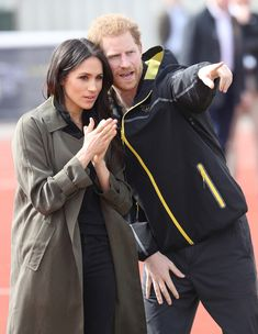 Prince Harry and Meghan Markle (in Her Go-To Jeans!) Hit the Track with Invictus Athletes