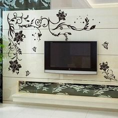 Stylish Simple DIY Floral Pattern Home Decoration Decorative Wall Stickers