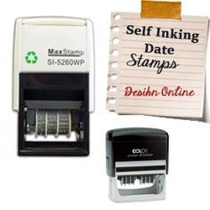 Self Inking Date Stamps ROUND
