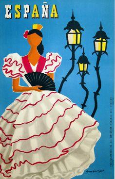 Spain Vintage Travel Poster Espana RARE Hot New 2   eBay