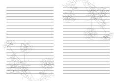 Шаблоны страниц для изготовления блокнотов и книг своими руками.
