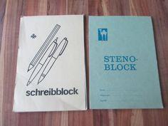 DDR Schreibblock und Stenoblock