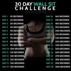 30 Day Wall Sit Challenge - Fitness Training Butt Workout Core