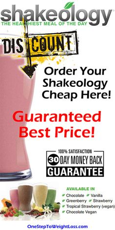 Buy Shakeology Cheap! You've read enough about what Shakeology is. Get it here: http://www.onesteptoweightloss.com/how-much-does-shakeology-cost