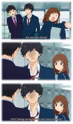 Tanaka-sensei, Kou, and Futaba… Haha, Kou is so mean! XD  ~Ao Haru Ride
