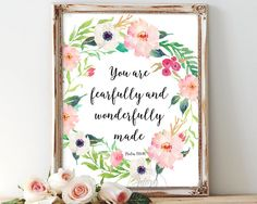 You are fearfully and wonderfully made Psalm 139:14 bible
