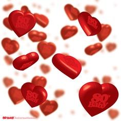 #Love, 80's Baby International.    #80sBaby #80sBabies #80s #1980s #Graphic #Design #Art #Red #Hearts #Shower
