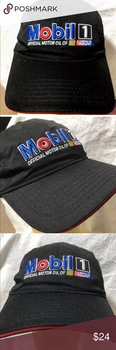 Mobile Oil Nascar Baseball Cap Black With Design Nascar Mobile Black  Baseball Cap Embroidered stocky Adjustable 82c411d4ab2