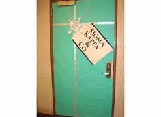sk & co door! reminds me of our bid day shirts!