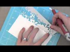 Awesome video by Jennifer McGuire for the Simon Says Stamp Blog using the SSS Calliope Flourish Die for Amazing cards.