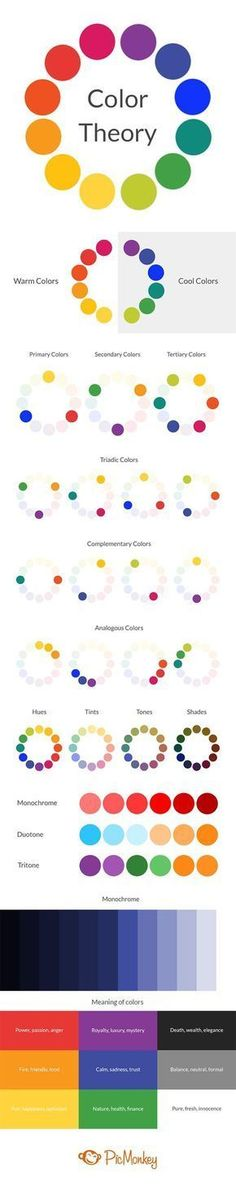 Color Theory: Choosing the Best Colors for Your Designs Your designs can spark a whole range of emotions in people. Color theory unlocks the secrets of how to use hues to inspire joy, sadness, and even hunger. Grafik Design, Art Plastique, Color Theory, Art Tips, Drawing Tips, Drawing Ideas, Art Techniques, Art Tutorials, Painting Tutorials