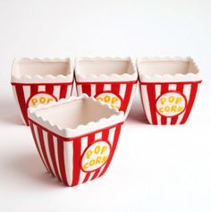 Popcorn Bowl // cute for bday party.