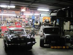 Here is a customer photo from Car Guy Garage. Organize the mess in your garage behind garage cabinets, take a look here http://www.carguygarage.com/item-guide-garage-cabinets.html