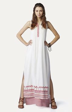 Hey, checkout this Cream Maxi Dress from Global Desi on Fynd.