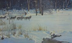 Robert Bateman Wolves on the Trail Limited Edition Print
