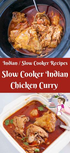 This slow cooker Indian chicken curry recipe will surprise you because it's so simple, easy and effortless. Ten minutes of hands on work and three hours unsupervised slow cooking will give you this beautiful deep red curry you can enjoy over a bowl of rice or just simple crusty bread. Indian Chicken Curry, Slow Cooker Indian Chicken Curry
