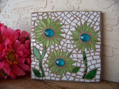 Stained Glass Mosaic Wall Art  Stained Glass Art por bluewaveglass