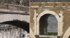 """Il Pons Fabricius è il più antico ponte di Roma ancora in funzione, risale al 62 a.C. - l'iscrizione è su ogni arcata: """"L(UCIUS) FABRICIUS C(AI) F(ILIUS) CUR(ATOR) VIAR(UM) FACIUNDUM COERAVIT"""""""