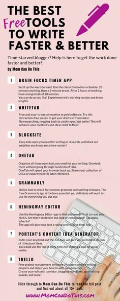 15 free writing tools to get your writing done faster and better instantly 15 free writing tools to get your writing done faster and better instantly Creative Writing Tips, Book Writing Tips, Writing Quotes, Writing Resources, Blog Writing, Writing Help, Writing Prompts, Better Writing, Creative Writing Inspiration