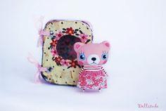 Miniature bear doll Pink bear Artist bear Mini bear by mirianata