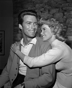 Clint Eastwood and Donna Douglas.
