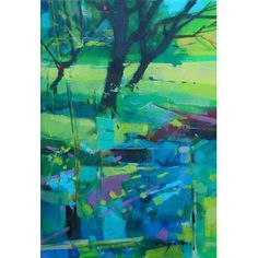 Doug Eaton - Path to the Wood - Renowned Forest of Dean Artist Landscape Artwork, Abstract Landscape Painting, Abstract Art, Acrylic Paintings, Cityscape Art, Chalk Pastels, Types Of Art, Tree Art, Art Pictures