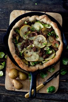Autumn Pizza Skillet
