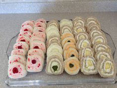 Pinwheel tea sandwiches are easy to make!                                                                                                                                                                                 More (fancy chrismas party ideas)