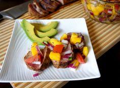 Smoky Pork Tenderloin with Mango Salsa