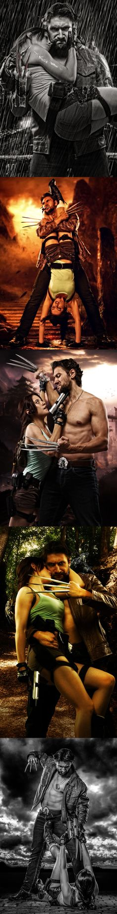 In the world of badass, this is the best mashup ever: Logan and Lara by howlettjames1981.deviantart.com/